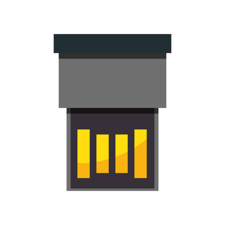 sd: USB connection technology icon vector illustration graphic design