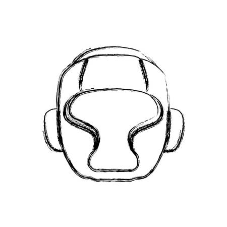 Boxing mask equipment icon vector illustration graphic design