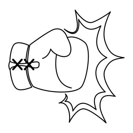 Equipo de guantes de boxeo icono ilustración vectorial diseño gráfico