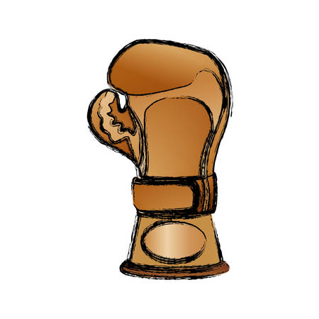 Boxing trophy championship icon vector illustration graphic design