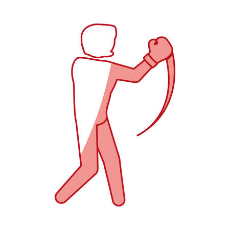 knocking: Boxing fighter training icon vector illustration graphic design