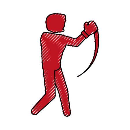 boxeo icono de la ilustración de combate de boxeo vector de diseño gráfico
