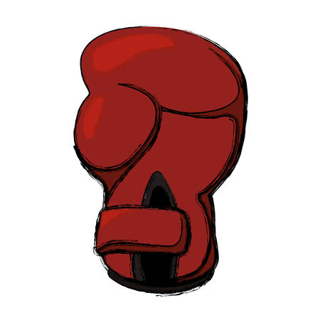 gym equipment: Boxing glove equipment icon vector illustration graphic design