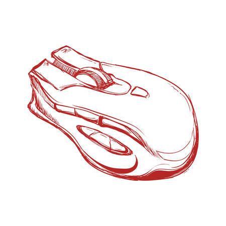 Mouse computer device icon vector illustration graphic design Ilustração