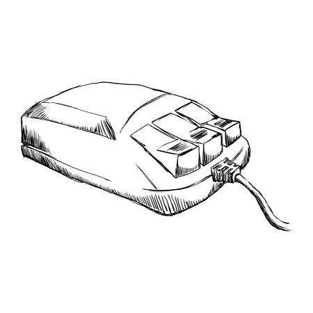 Mouse computer device icon vector illustration graphic design Illustration