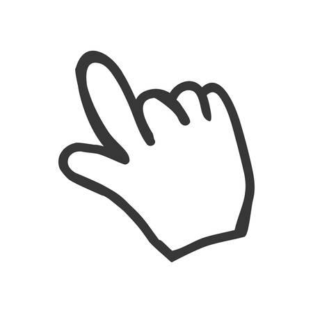 hit tech: Click cursor symbol icon vector illustration graphic design Illustration
