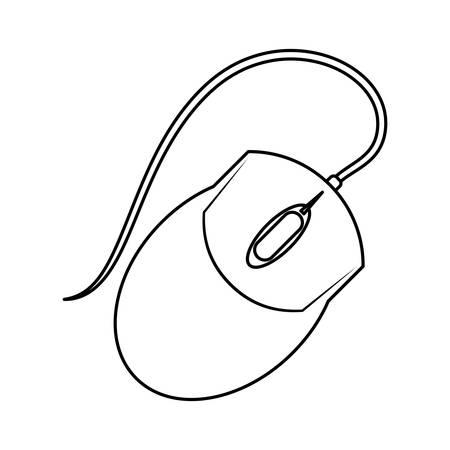 Mouse computer device icon vector illustration graphic design Reklamní fotografie - 77829827
