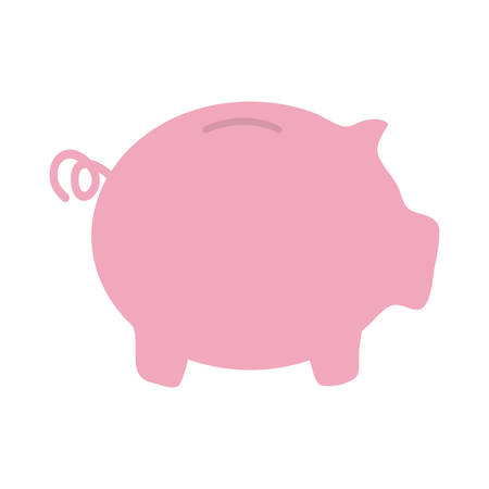 piggy bank icon over white background. colorful design. vector illustration