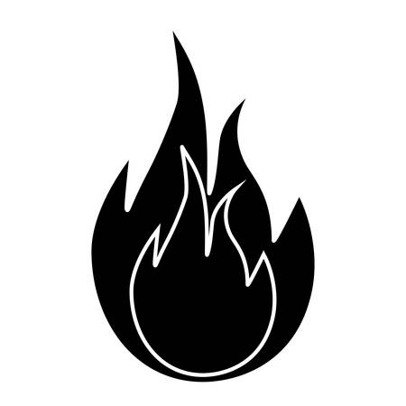 igniting: fire flame icon over white background. vector illustration