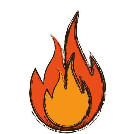 flammable: fire flame icon over white background. vector illustration