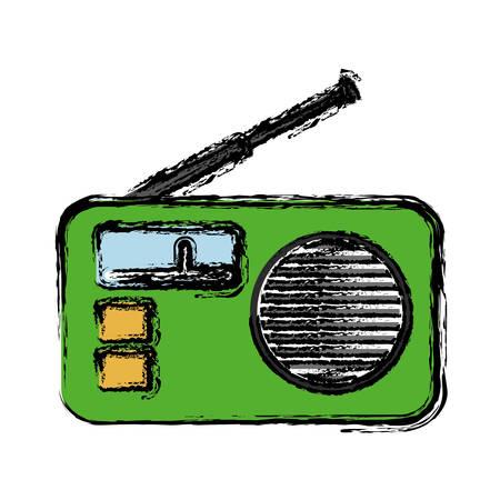 Retro radio icon over white background. vector illustration Illustration
