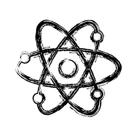 atom icon over white background. vector illustration Illustration