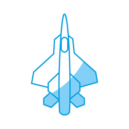 war plane icon over white background. vector illustration