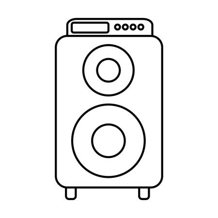 speaker icon over white background. vector illustration Illustration