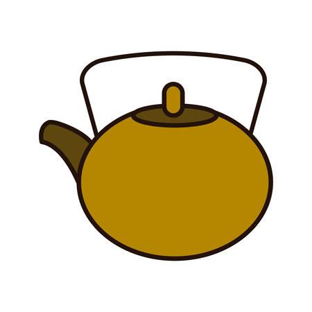 tea pot icon over white background. vector illustration