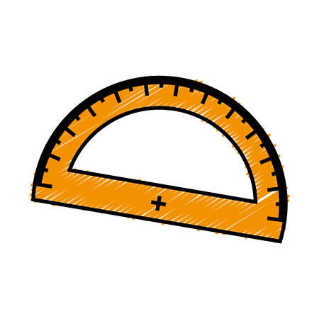 ruler protractor icon over white background. vector illustration Illustration