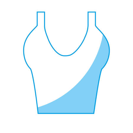 Icono de blusa de mujer sobre fondo blanco. ilustración vectorial Foto de archivo - 78076567
