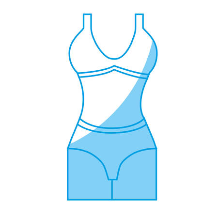Women bra icon over white background. vector illustration Çizim