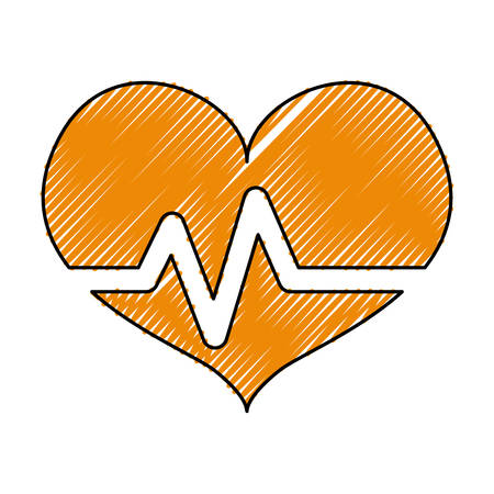 heart beating pictogram vector icon illustration graphic design