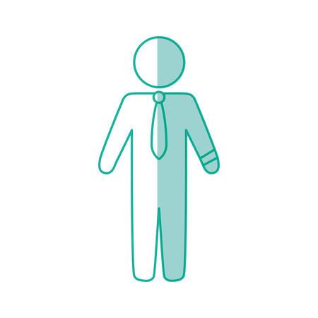 businessman draw silhouette vector icon illustration shape
