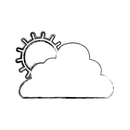 weather report: sun cloud weather vector icon illustration graphic design