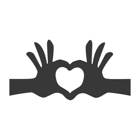 hands heart shape vector icon illustration graphic design Illustration