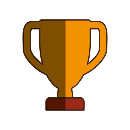 award winning: prize cup trophy pictogram vector icon illustration graphic design