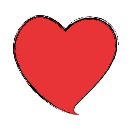 heart shape symbol ector icon illustration graphic design Illustration
