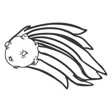meteor shooting star vector icon illustration graphic design