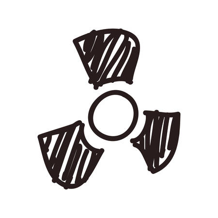 nuclear symbol doodle vector icon illustration graphic design