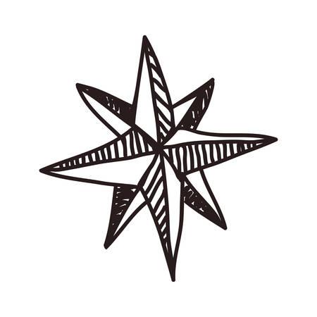 Points cardinaux étoile vecteur icône illustration design graphique