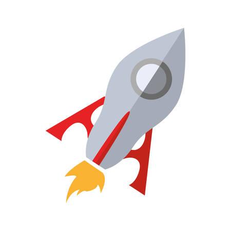 rocket science fiction vector icon illustration graphic design
