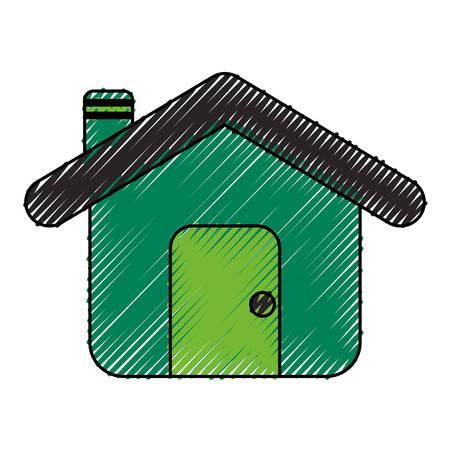 casa edificio casa icona illustrazione vettoriale illustrazione grafica