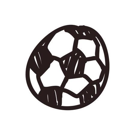 football doodle cartoon vector icon illustration graphic design