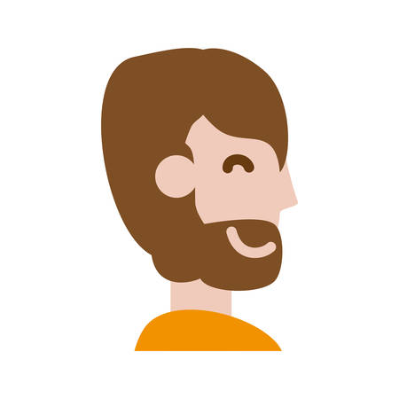 adult male avatar vector icon illustration colored