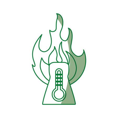contamination: nuclear plant high temperature vector icon illustration design Illustration