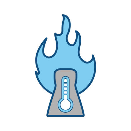 nuclear plant high temperature vector icon illustration design Illustration