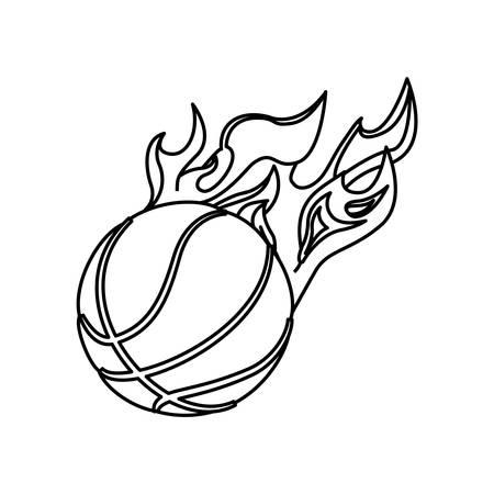 Basketball ball equipment icon vector illustration graphic design