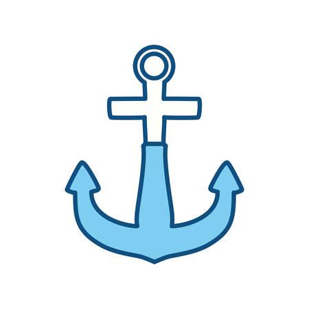 Marine anchor symbol icon vector illustration graphic design Illustration