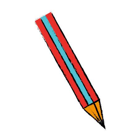 pencil utensil icon over white background. vector illustration Illustration