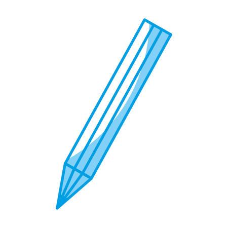 secretarial: pencil utensil icon over white background. vector illustration Illustration