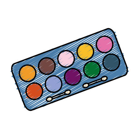 Eyeshadow palette icon over white background. colorful design. vector illustration