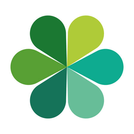 green clover icon over white background. vector illustration