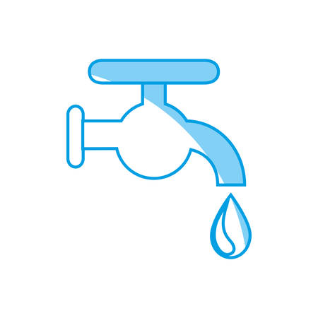 ooze: water faucet icon over white background. vector illustration Illustration