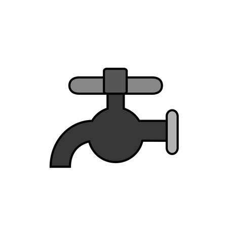 water faucet icon over white background. vector illustration Illustration