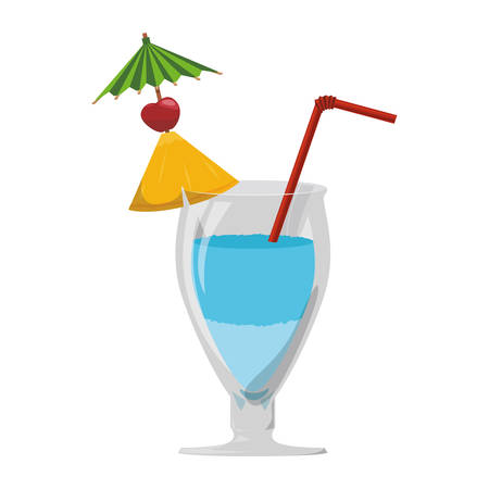 Delicious cocktail drink icon vector illustration graphic design Illustration