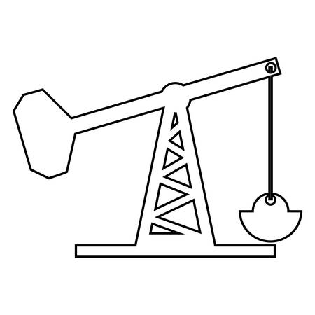 Oil rig structure icon over white background. vector illustration Illustration