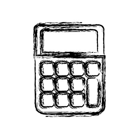 addition: Calculator icon over white background. vector illustration