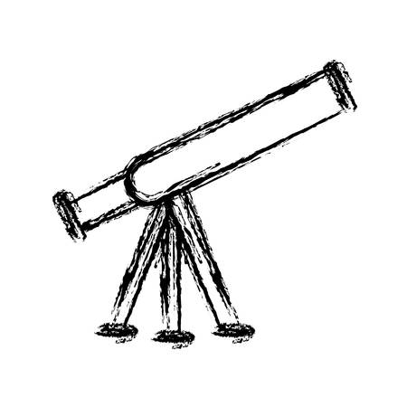 telescope icon over white background. vector illustration