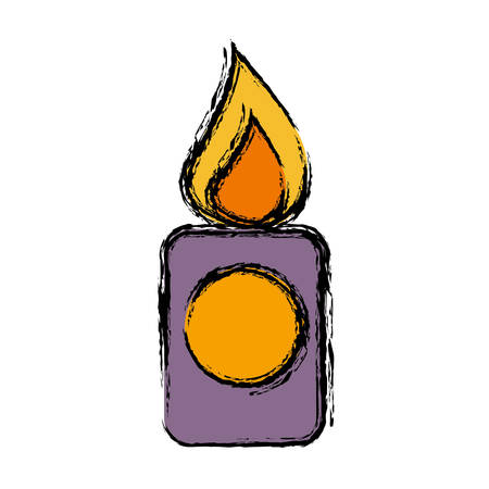 candle icon over white background. vector illustration Illustration
